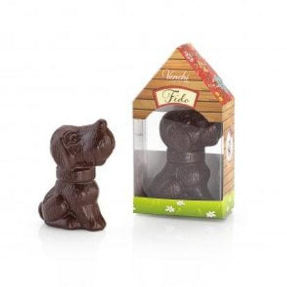 Påskehund af mørkechokolade