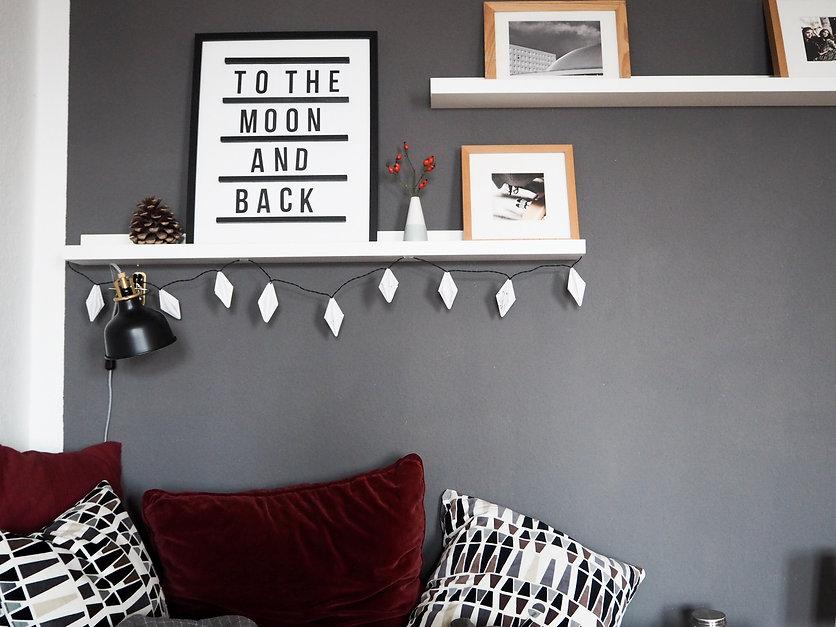 diy lichterkette mit papierdiamanten wave and line. Black Bedroom Furniture Sets. Home Design Ideas