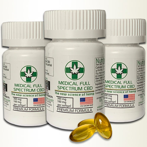 Hemp Oil Capsules             -Set of 3-