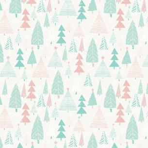 Pastel Winter Forest
