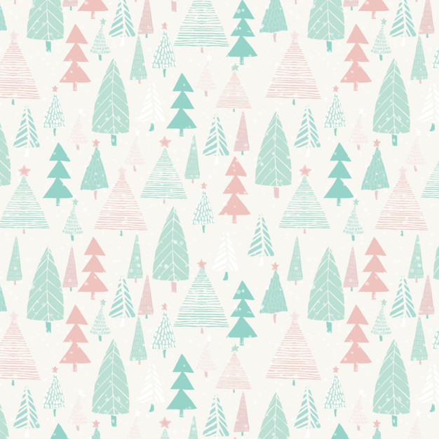 Pastel Winter Forest