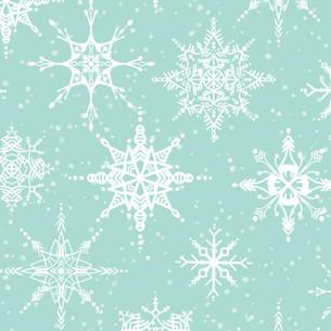 Teal Snowflakes
