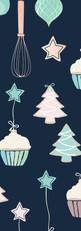 Cupcake Christmas {navy}