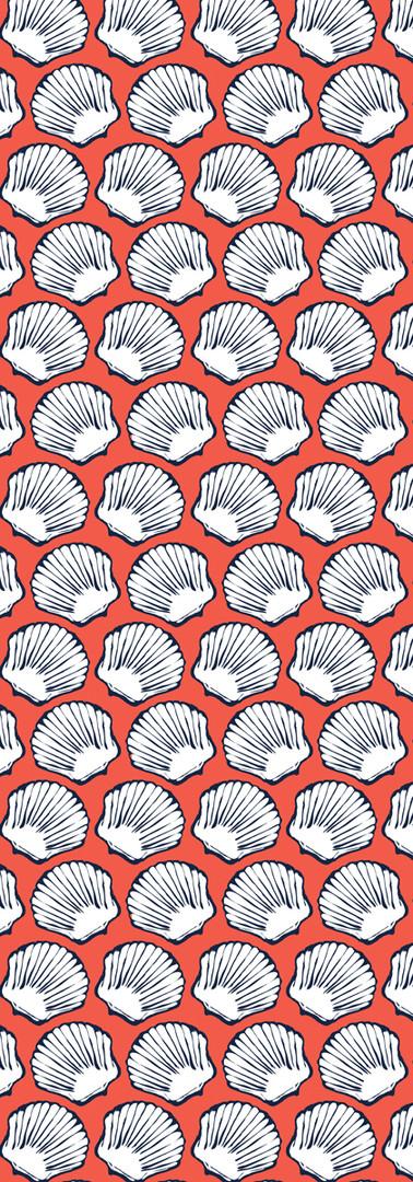 seashells { coral & navy }