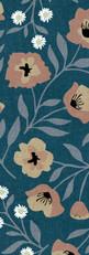 Nouveau Poppies {Denim}