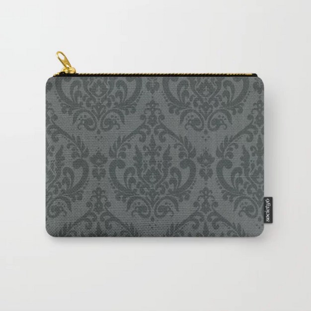 Camille Damask Gray Carry-All