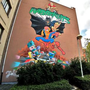Streetart in Sint-Andries