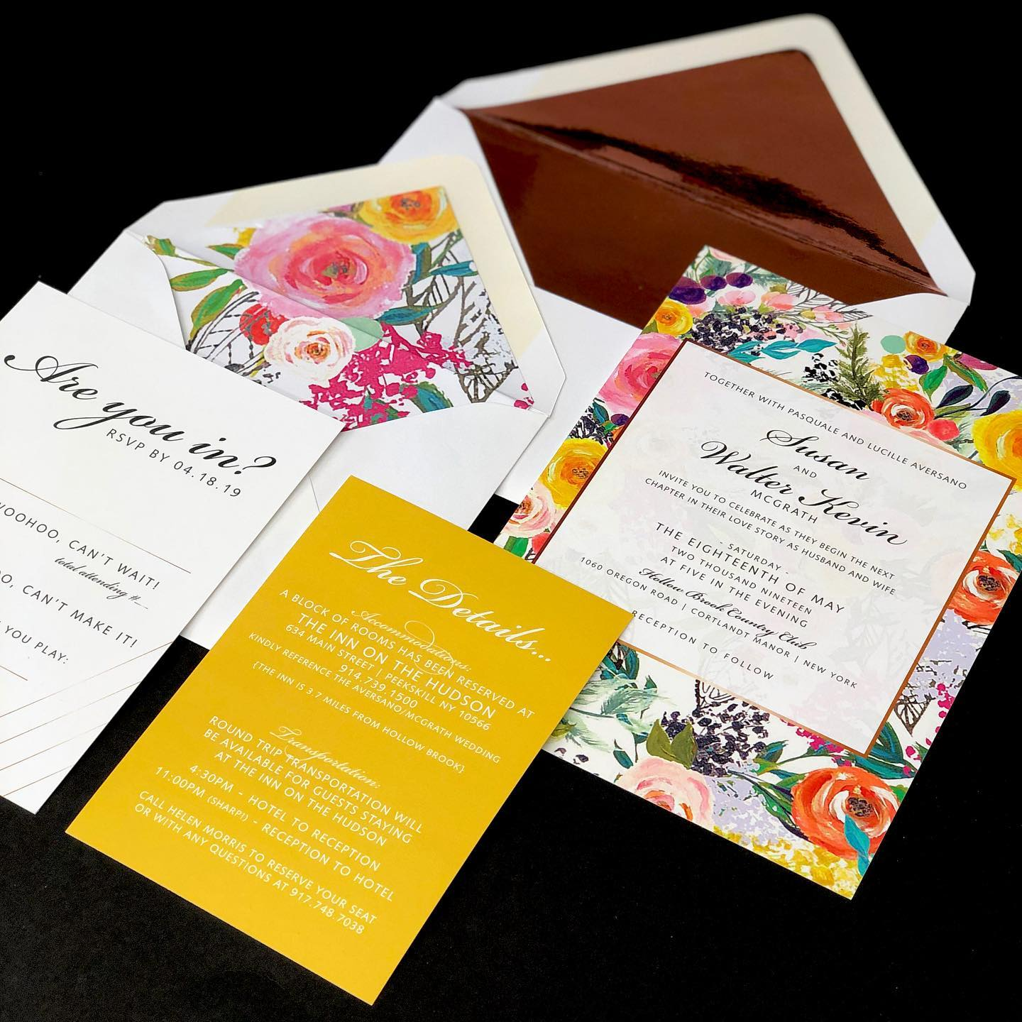 Graphic Nature Invitations