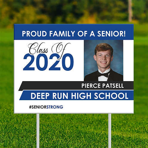 Proud Senior Yard Sign