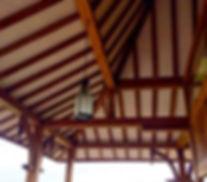 Estrutura de madeira telhdo