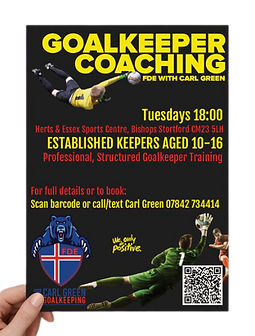 FDE with Carl Green Goalkeeping