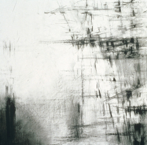 5. Untitled Drawing, 2002, charcoal on paper, 18 x 18 inches
