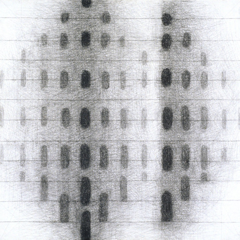 9. Paragon, 2005, charcoal on paper, 13 x 13 inches