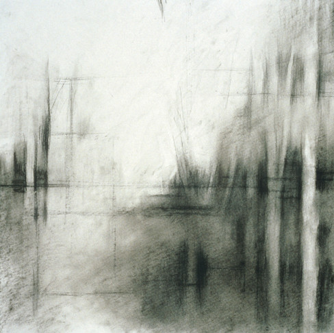 4. Untitled Drawing, 2002, charcoal on paper, 18 x 18 inches