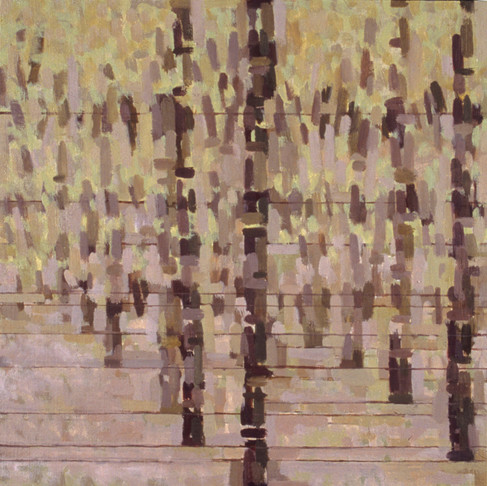 6. New Trees (Pink), 2004, oil on linen, 16 x 16 inches