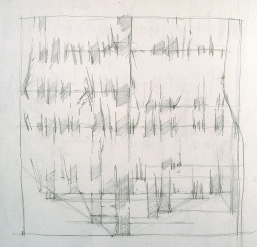 8. Sketch, 2004, pencil on paper, 6 x 6 inches