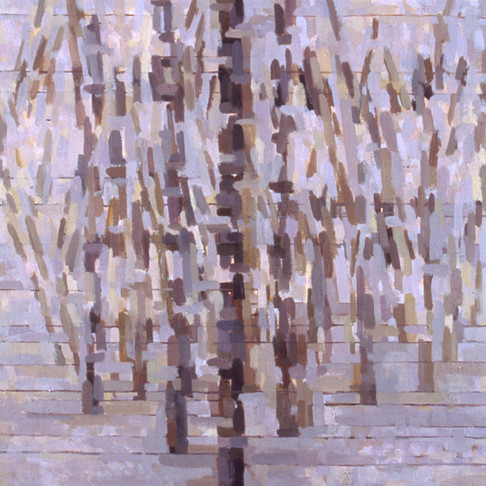 7. New Trees (Purple), 2004, oil on linen, 16 x 16 inches