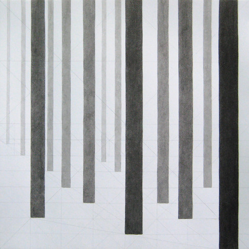 25. Untitled Drawing, 2013, ink and pencil on paper, 12 x 12 inches
