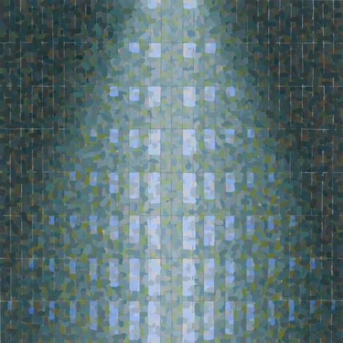 15. Cone, 2007, oil on linen, 26 x 26 inches