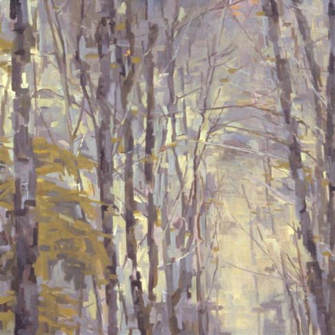 1. Treescape (Winter 1), 2002, oil on linen, 22 x 22 inches