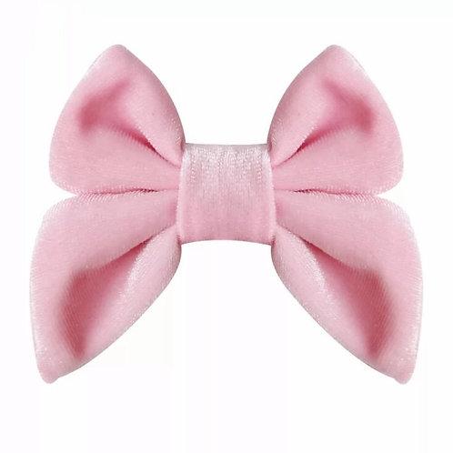 заколка бант розовая