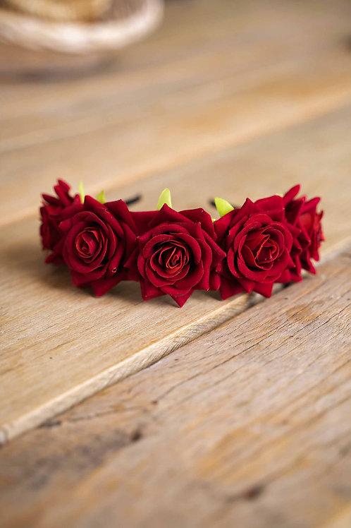 "Ободок ""Красная роза"""