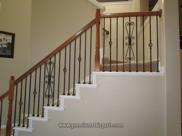 Iron spindles for stair