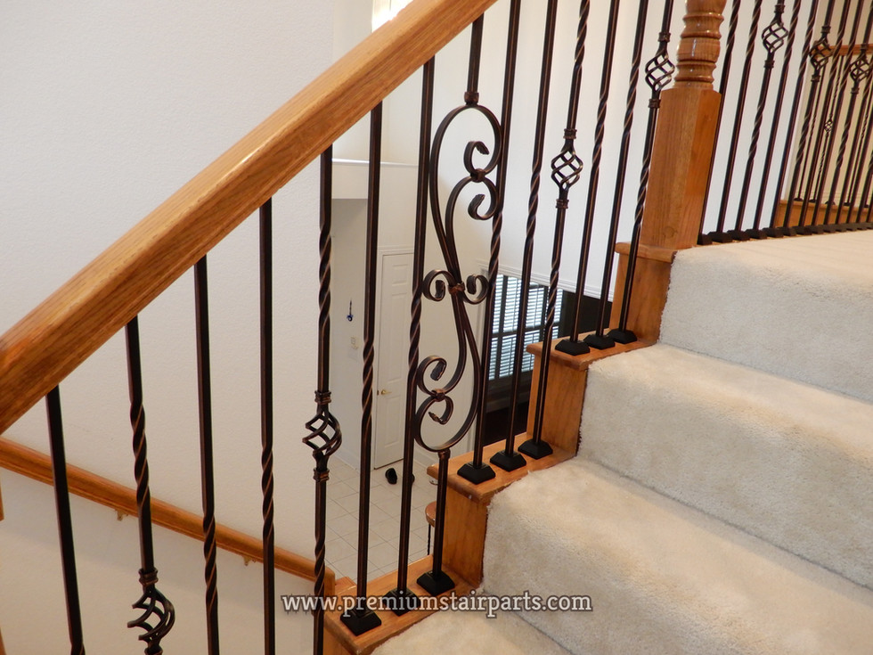 Wrought iron stair parts part example
