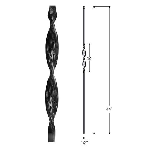 Single Ribbon Iron Baluster
