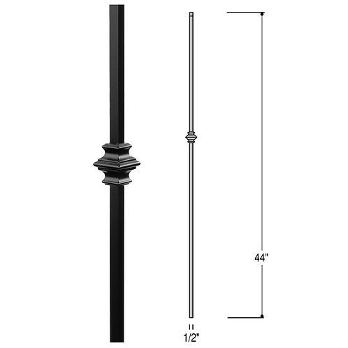 Single Knuckle Iron Baluster