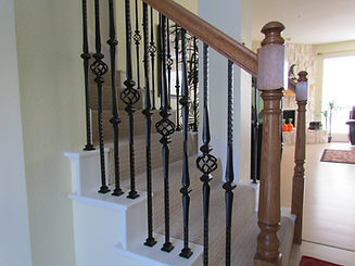 Satin black Gothic balusters