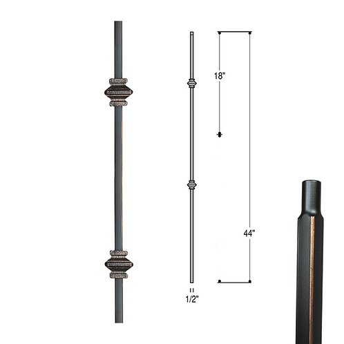 Double Knuckle Iron Baluster