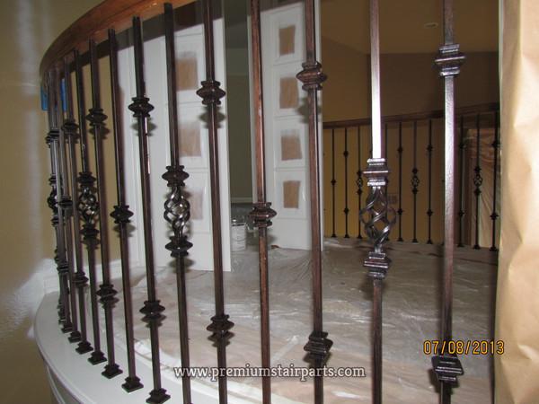 Iron stair railing