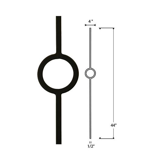 Single Ring Iron Baluster