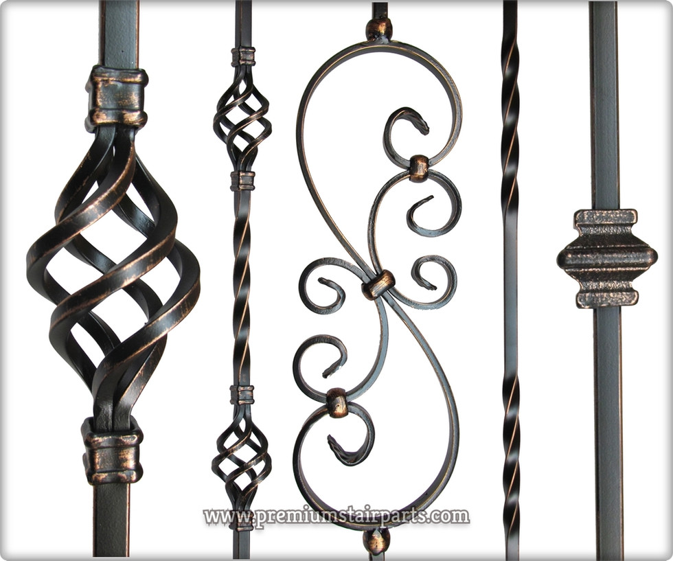 Oil rubbed copper iron balusters