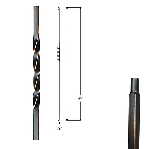 Single Twist Iron Baluster