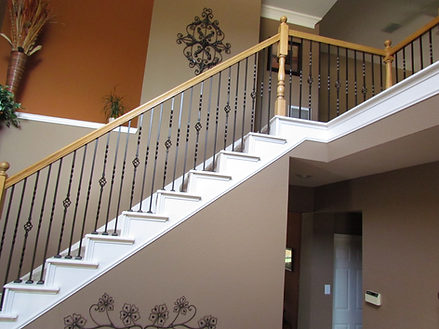 Single twist and single basket iron balusters