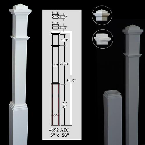 4692 Plain 5''x 56'' Primed White - Adjustable / Removable Base