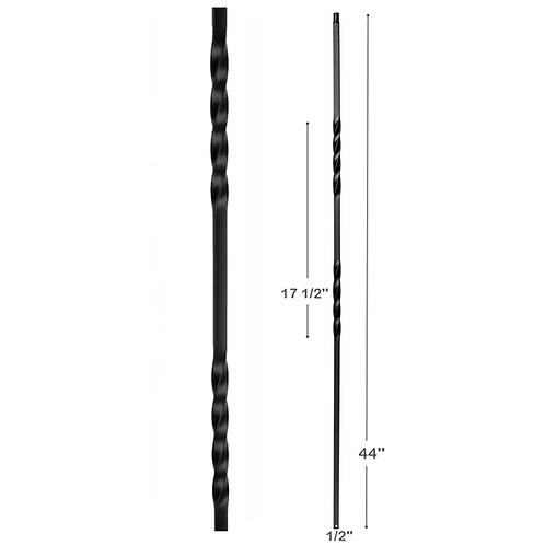 Double Twist Iron Baluster
