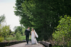 Wedding Couple at Railside