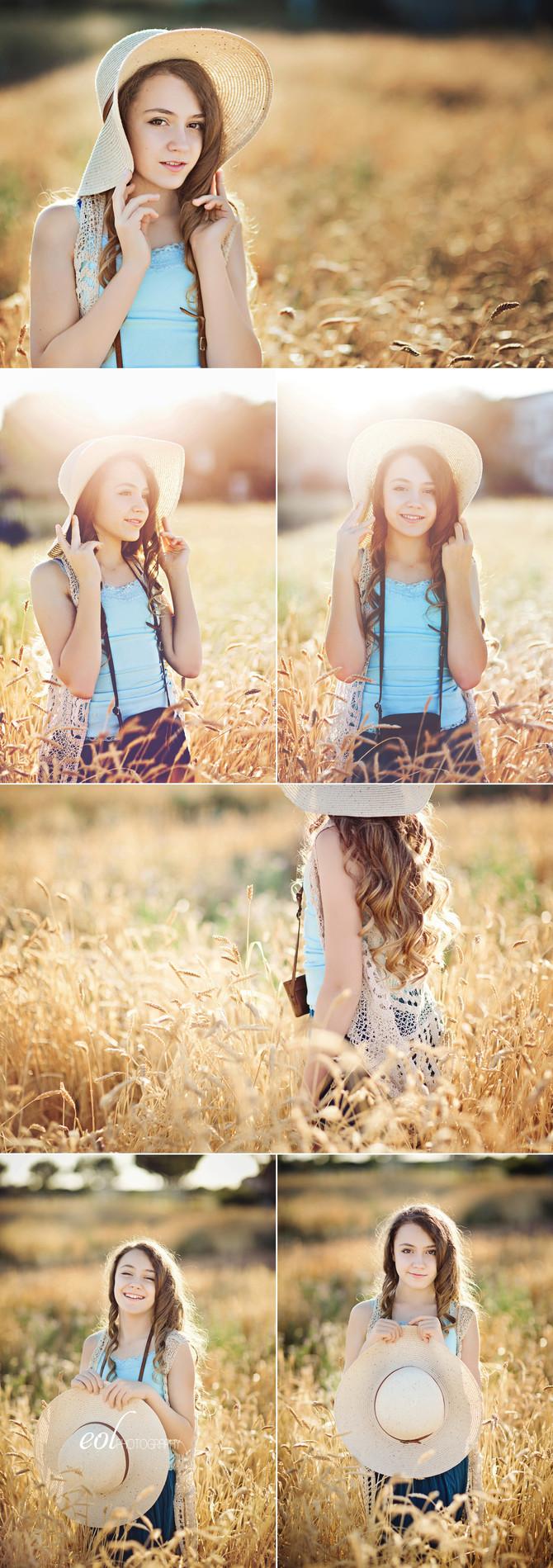 Wheat Field Tween Portraits
