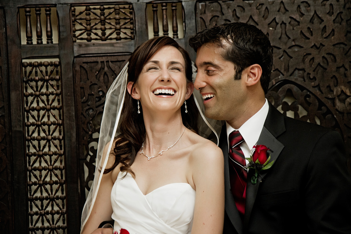 Bride & Groom Laughing - Montelucia