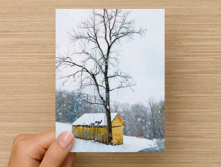 Winter Barn Notecard (Pack of 5)