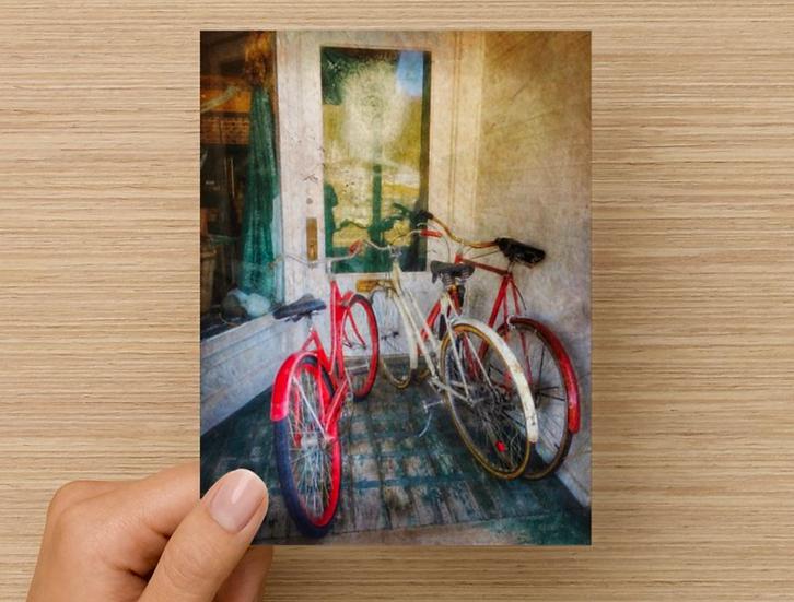 Three Bikes Notecard (Pack of 5)