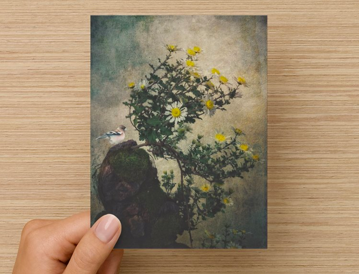 Bird on Rock Notecard (Pack of 5)