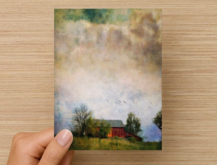 Summer Barn Note Card (Pack of 5)