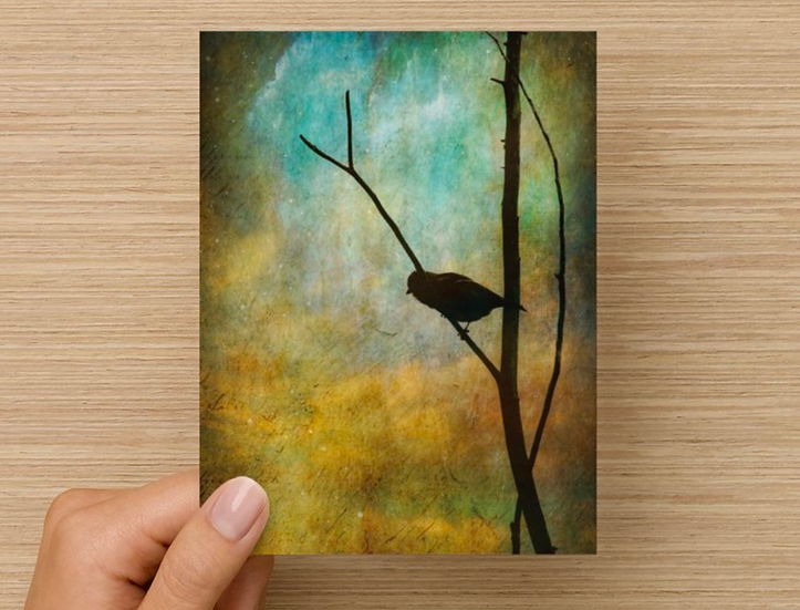 Bird Silhouette  Note Card (Pack of 5)