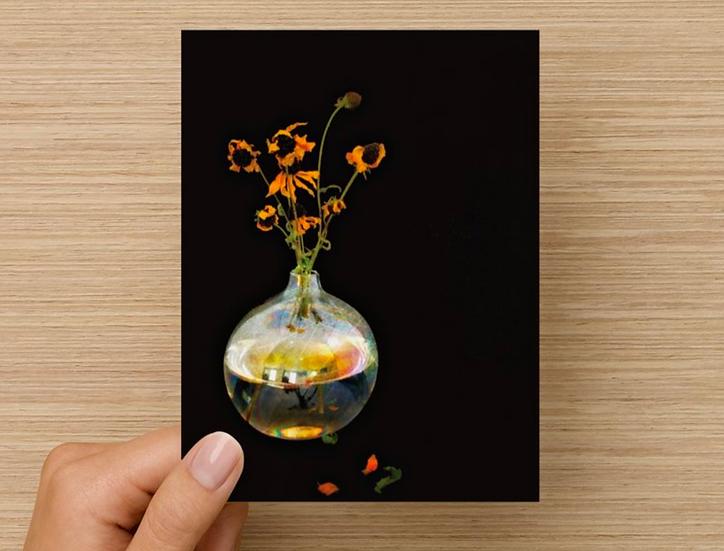 Memories in Vase Note Card (Pack of 5)