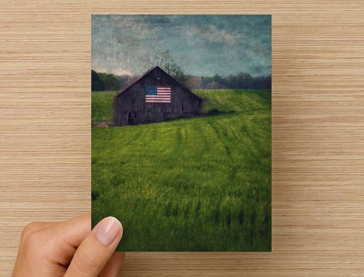 Patriotic Barn Note Card (Pack of 5)