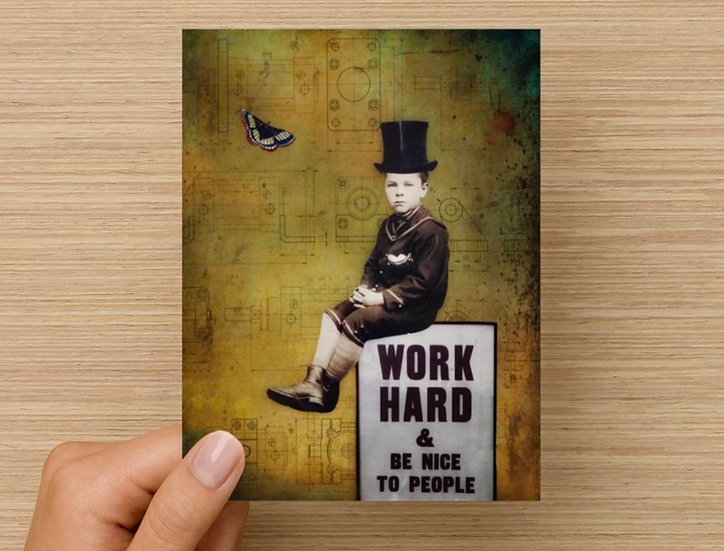 Work Hard and Be Nice Note Card (Pack of 5)